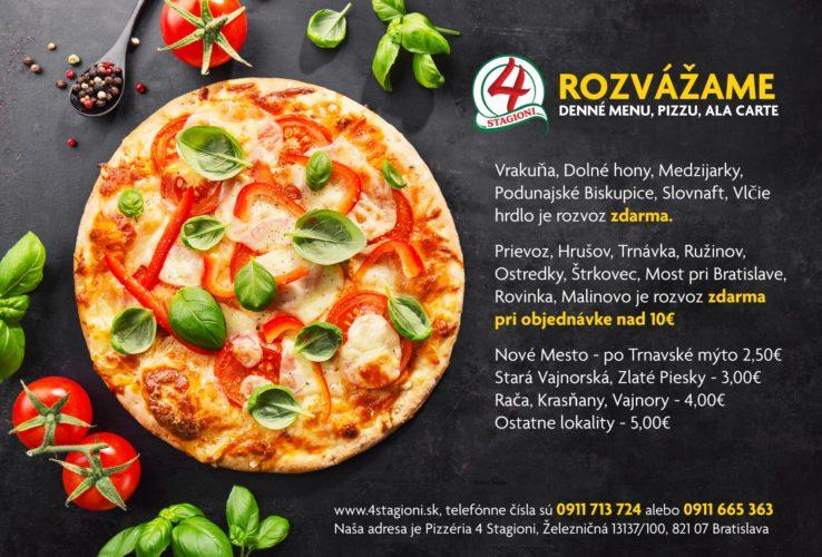 Tasty appetizing vegetarian pizza on dark background. Horizontal.